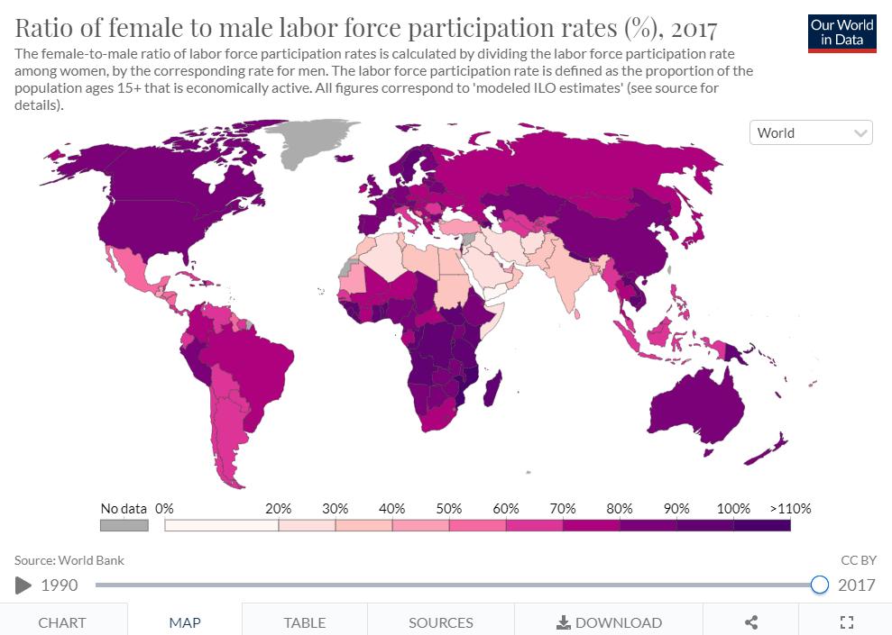 mapa mujeres mkt trabajo