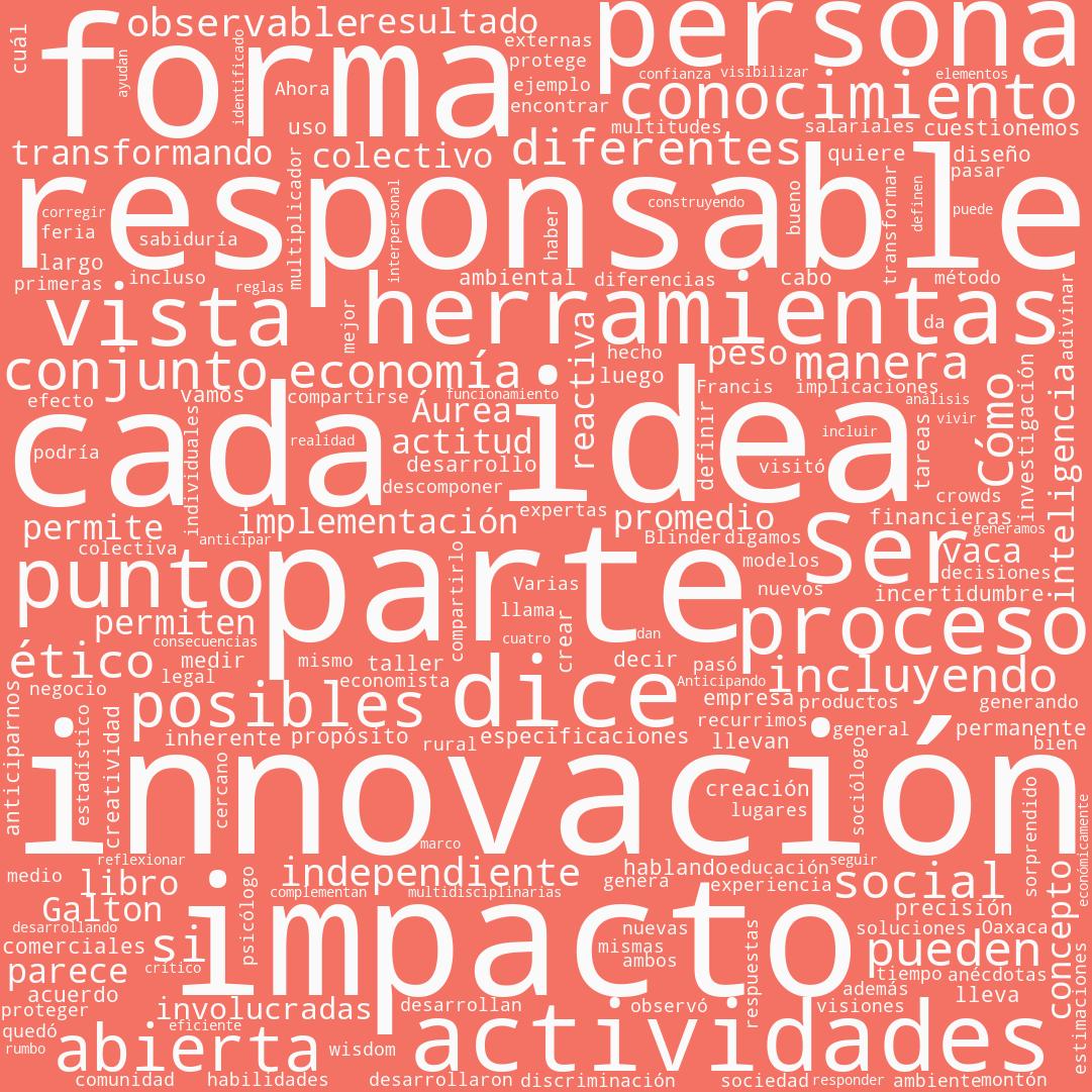 nube de palabras sobre innovación abierta