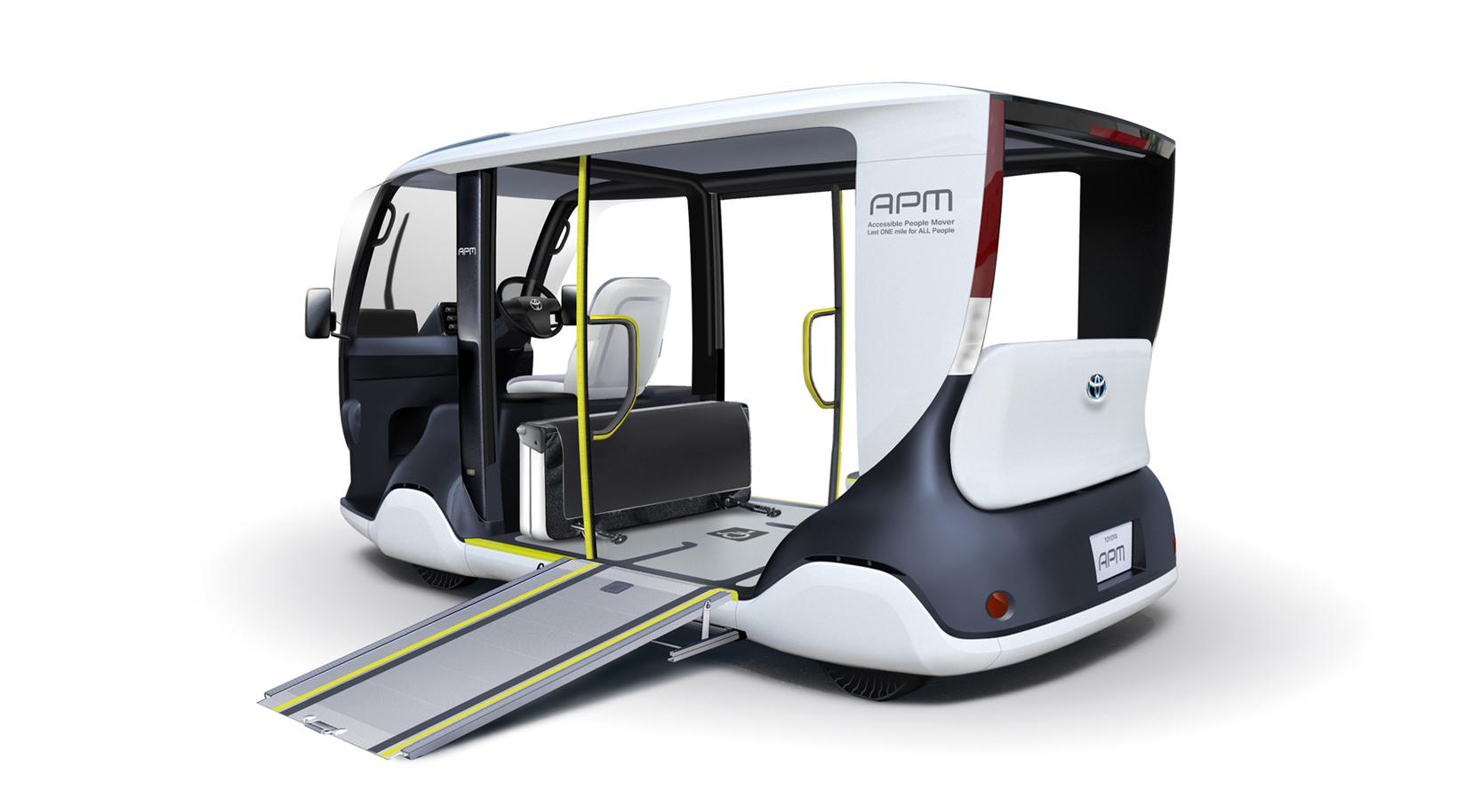 Mini Bus de Toyota diseñado para llevar pasajeros de pie y especialmente personas en silla de ruedas