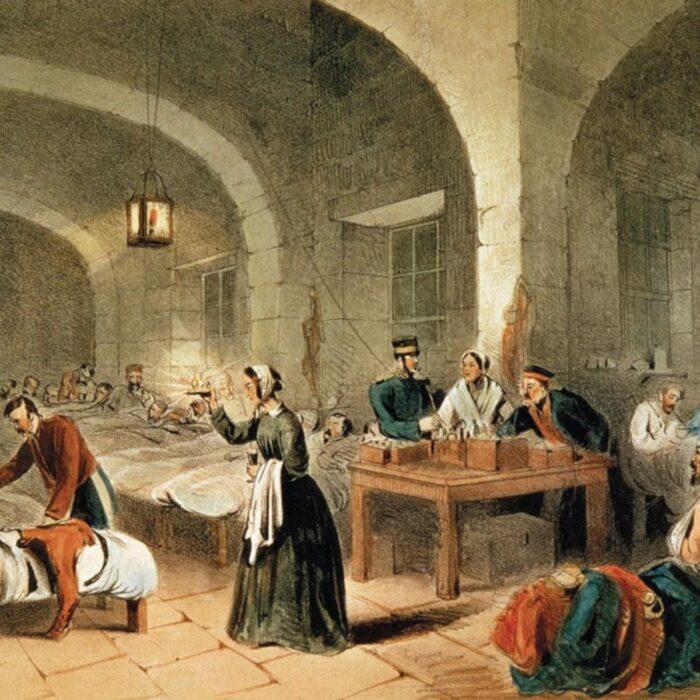 imagen de Florencia Nightingale en un hospital